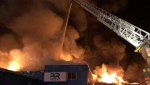 A fire has completely destroyed the Built Rite Trucks factory in Lyster, Quebec on Jan. 14, 2021. The factory employed around 30 employees. SOURCE: Service Incendie Laurier-Station/Facebook