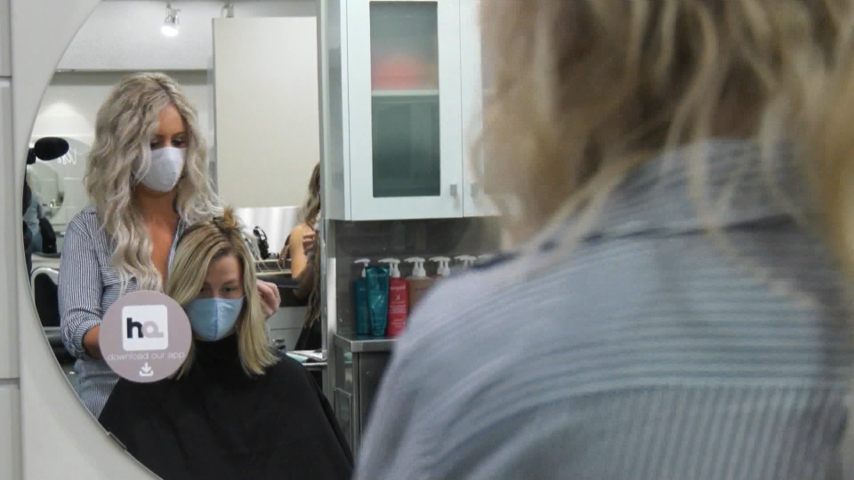 Hair salon, face masks
