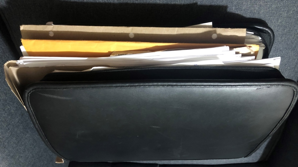 A diary kept by Janine Bechard, who is speaking out about the alleged abuses she documented in the black binder over the past two decades. (Source: Janine Bechard)