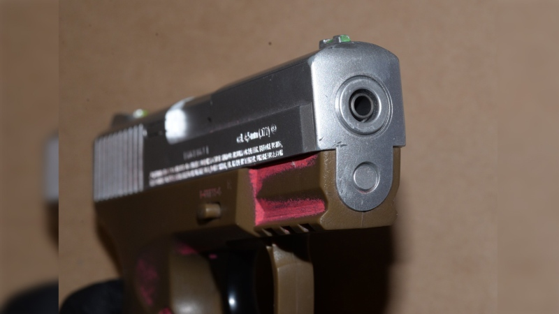 A picture of a modified pellet gun is seen here. (Source: @gpsmedia)