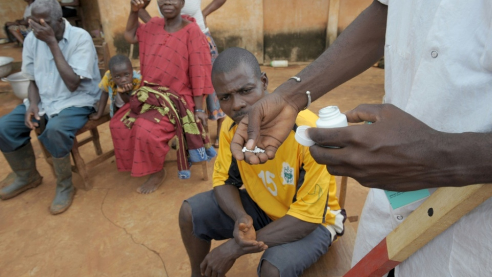 Ivermectin has a long history in rural Africa as a drug to treat river blindness, a disease caused by a parasitic worm spread by the blackfly. (AFP)