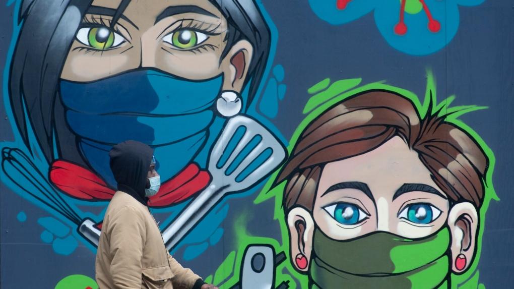COVID-19 mural in downtown Ottawa