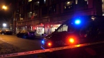 A lengthy stand-off between police and a suspect ended in an arrest in Vancouver's Downtown Eastside on Jan. 2, 2021.