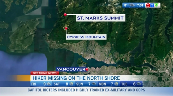 Headlines, hiker lost on Cypress