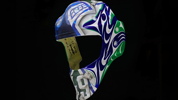 Canucks goalie trades controversial mask for design from Coast Salish artist