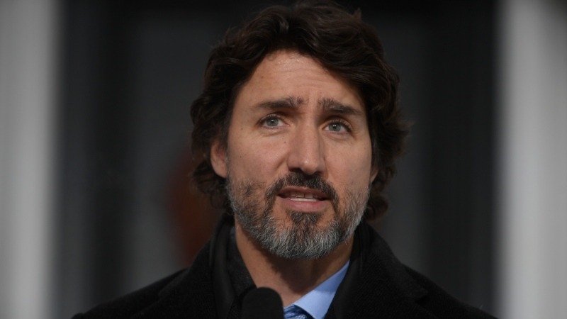 Prime Minister Justin Trudeau speak to the media about the COVID-19 virus in Ottawa, Friday January 15, 2021. THE CANADIAN PRESS/Adrian Wyld