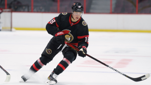 Top Senators prospect Tim Stützle is making his highly-anticipated NHL debut Friday night. (Photo: Ottawa Senators)