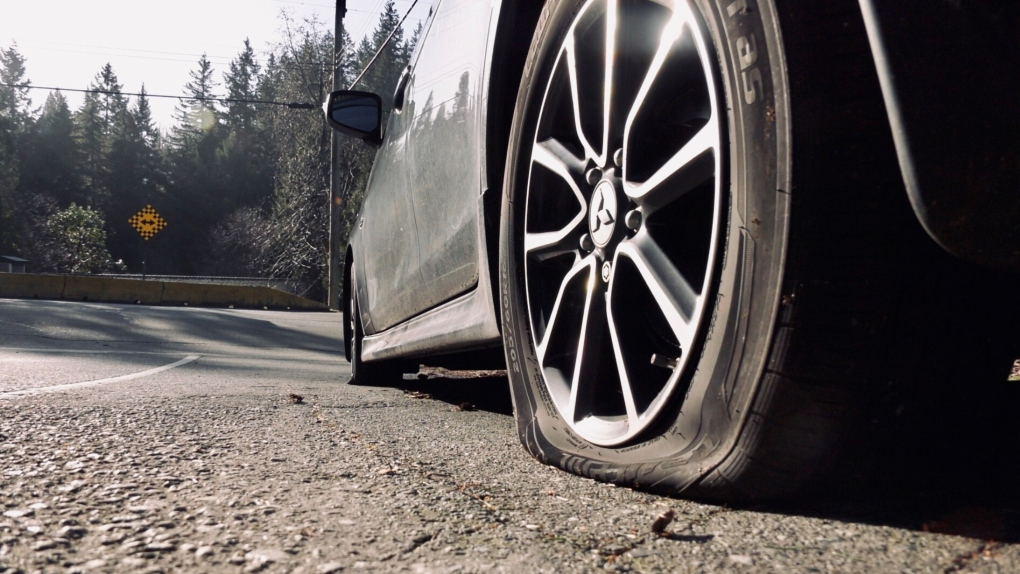 nanaimo tire slashed