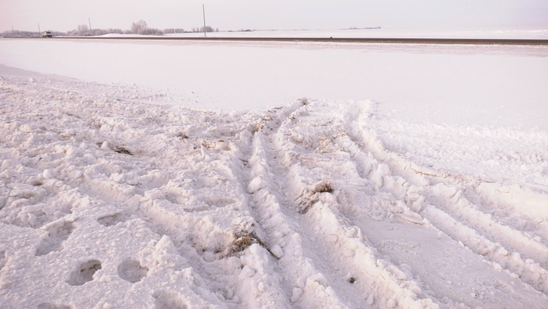 A teen was the victim of a collision near Neuanlage, Sask. on Jan. 15. (Chad Hills/CTV News)
