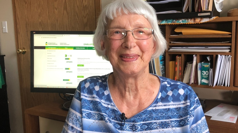 89-year-old Adeline Fossey called in but wasn't able to book an appointment for the Pfizer vaccine in Shellbrook.