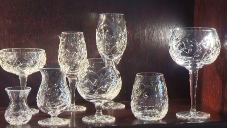 NovaScotian Crystal has been in operation for more than 20 years and creates mouth-blown, hand-cut crystal.