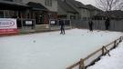 Backyard rink at the home of the Barth Family, Friday January 15, 2021 (Marek Sutherland / CTV News)