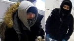 Police released these photos of the the man and the woman believed to be involved in a jewelry store robbery in Sherwood Park. (Source: RCMP)