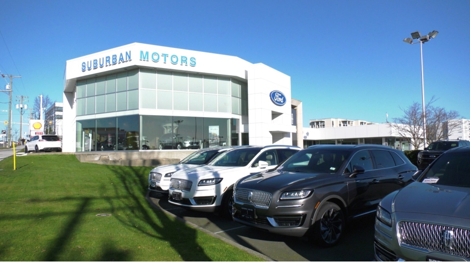 Suburban Motors in Saanich says the slow manufacturing supply chain is delaying vehicles getting to the lot. (CTV News)