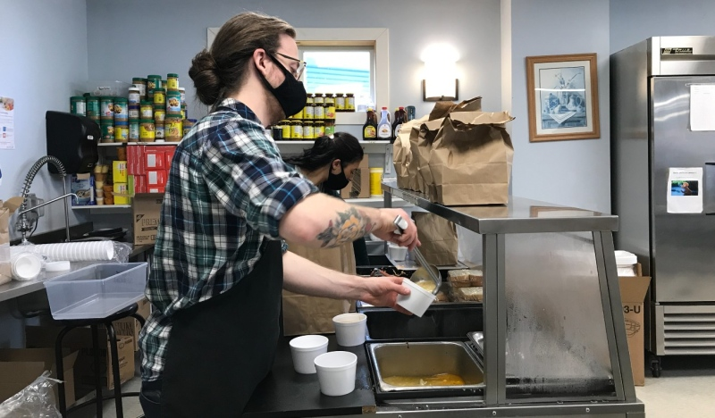 Despite the many obstacles that 2020 brought, The Gathering Place in North Bay was able to give out more meals than ever before and expand its outreach in 2020, a trend it plans to continue in 2021. (Alana Pickrell/CTV News)