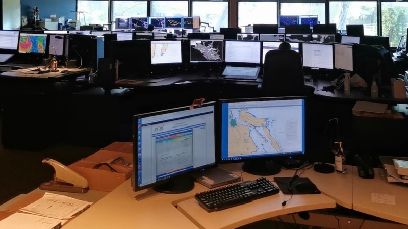 The Canadian Coast Guard's Marine Mammal Desk in Sidney, B.C.