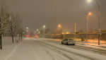 Montrealers woke up Saturday to the first real snowfall of the season. The storm is expected to travel across the province over the weekend. (Daniel J. Rowe/CTV News)