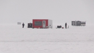 Reed's Outdoor Ice Fishing Adventures Owner Yves Perrault says about 90% of his clients are from southern Ontario. With the government's stay-at-home order only just underway, his business is in trouble. Jan. 16/21 (Eric Taschner/CTV News Northern Ontario)