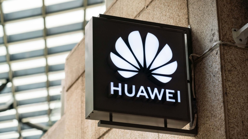 The logo for chinese multinational technology company Huawei, is pictured in Shanghai, China, on November 1, 2020. (Alex Tai/SOPA Images/LightRocket/Getty Image/CNN)