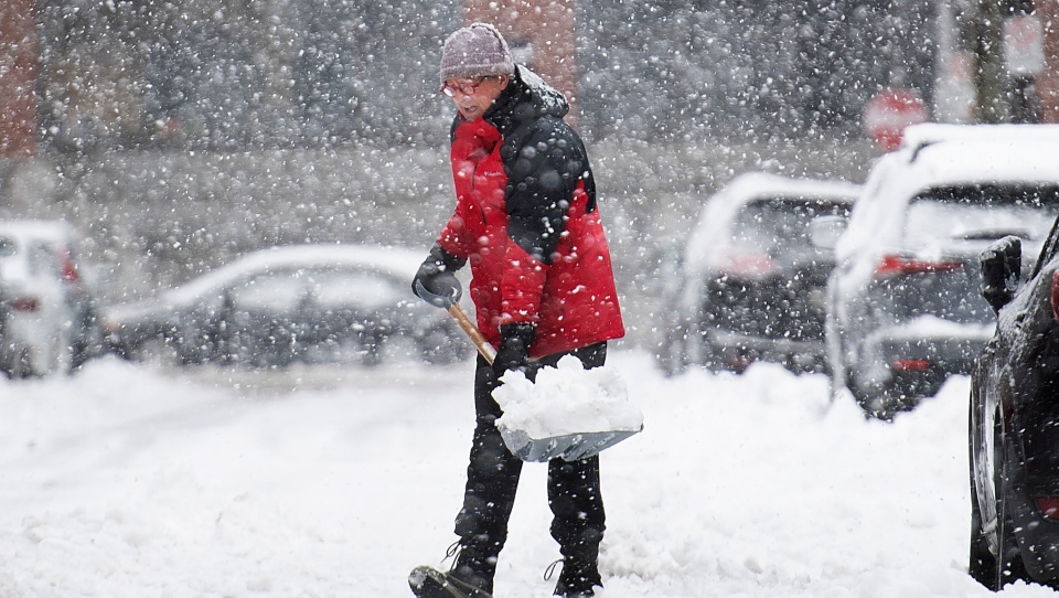 Clearing snow can cause joint or muscle pain