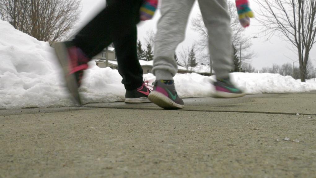 Brockville walking in winter