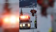 Extended: Crews rescue Rocky Mountain ice climber