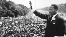 Martin Luther King Jr. at the March on Washington in 1963. Central Press/Getty Images via CNN