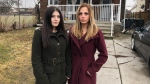 Sophia Maniscalco and Tanya Marriott in Windsor, Ont. on Saturday, Jan. 16 2020. (Alana Hadadean/CTV Windsor)