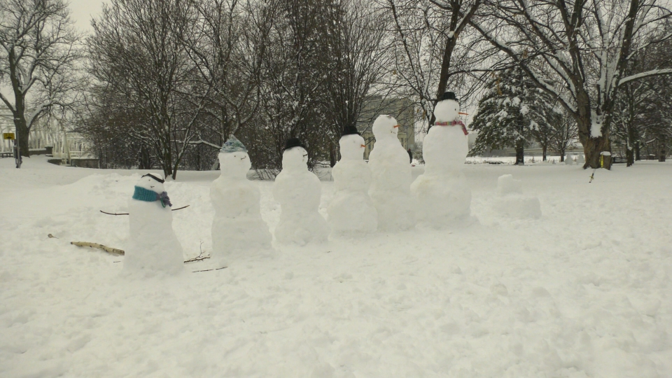 Snow family Ottawa