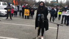 Protesters were left frustrated on Saturday after a rally they had planned weeks in advance was shut down at the last minute by police officers. (CTV)