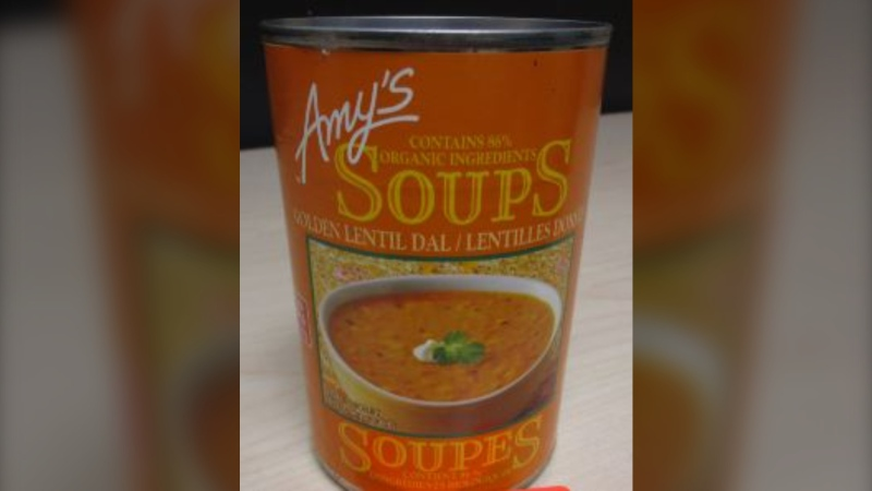Amy's Kitchen is recalling its Golden Lentil Dal Soup because it could cause a serious reaction for people with an egg allergy, the Canadian Food Inspection Agency stated.