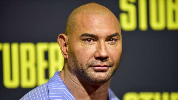 """Actor Dave Bautista announced he would give an additional US$20,000 to the reward for information leading to the person or people responsible for writing """"TRUMP"""" on a manatee in Florida. (Rodin Eckenroth/Getty Images/CNN)"""