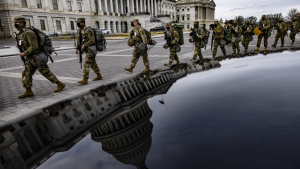 More than 25,000 National Guard soldiers are expected to descend on Washington and new barricades have been installed for inauguration.