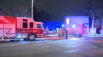 Officials say the cause of a Weber Street East fire in Kitchener was careless smoking. (CTV Kitchener) (Jan. 16, 2021)