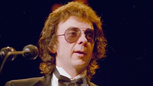 "FILE - Record producer Phil Spector is seen in this 1989 file photo. Spector, the eccentric and revolutionary music producer who transformed rock music with his ""Wall of Sound"" method and who was later convicted of murder, died Saturday, Jan. 16, 2021, at age 81. (AP Photo, File)"
