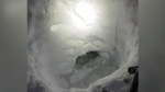 A teen who got lost in the South Cariboo area built a snow cave to wait in while he waited for a search and rescue team.