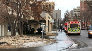 A peace officer was covered in what was later identified as tapioca after opening a suitcase at the Edmonton General Continuing Care Centre on Jan. 17, 2020.