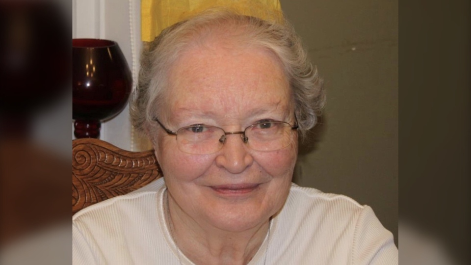 Bryan Graham's mother, seen in an undated photograph, lives at Roberta Place Long-Term Care Home in Barrie, Ont. and is experiencing COVID-19 symptoms (supplied)