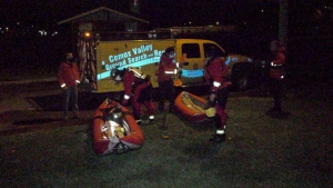 A large-scale effort to locate a woman along the Courtenay River wrapped up successfully Sunday night after the person was located far from the water. (CTV)