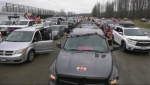 Residents of Mission and surrounding communities showed up in tow trucks, Teslas and everything in between to show solidarity with a teen viciously assaulted at Heritage Park Middle School because of their gender identity. (CTV)
