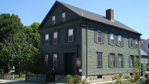 The Borden home in Fall River, Massachusetts, where the murders of Lizzie Borden's parents occurred, is now a bed and breakfast. (Donna Hageman/Chicago Tribune/Getty Images)