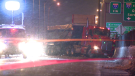 Quebec provincial police arrived on the scene at 8 p.m. on Sunday after the man hit a pickup-truck and another large vehicle while allegedly driving south in the northbound lane on Highway 25. (Cosmo Santamaria)