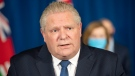 Ontario Premier Doug Ford speaks at Queen's Park in Toronto on Tuesday January 12, 2021 to announce a state of emergency and stay at home order for the province of Ontario. THE CANADIAN PRESS/Frank Gunn
