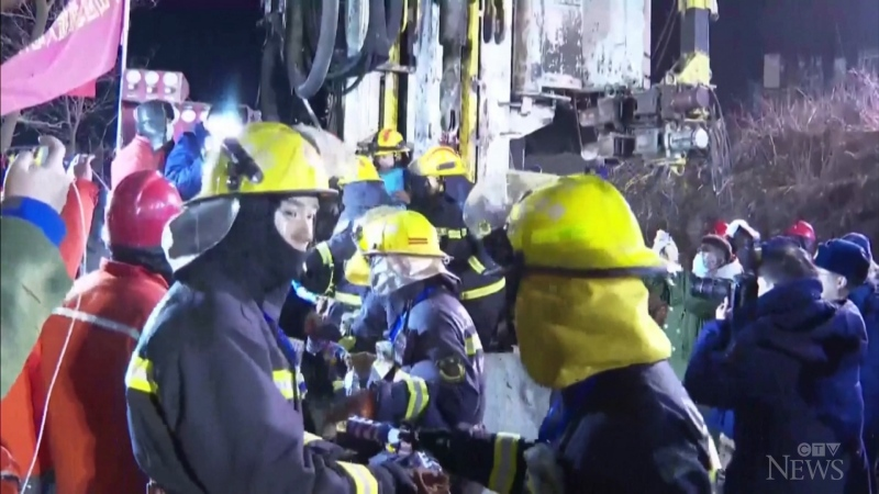 A note sent by Chinese miners trapped underground after a Jan. 10 explosion says at least 12 of them are still alive.