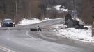 Highway 26 near Grey County Road 19, on Mon., Jan. 18, 2021. (Roger Klein/CTV News)