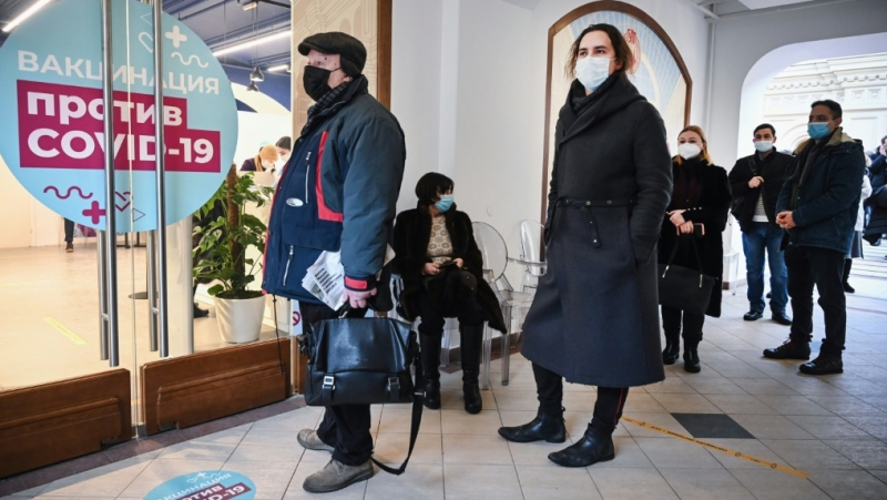 Russians can get the vaccine at everyday spots like Moscow's GUM department store. (AFP)