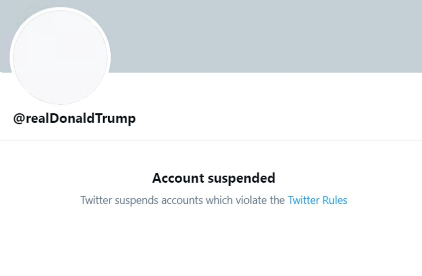Trump permanently suspended from Twitter
