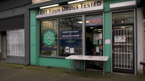 Dana Larsen says 10,000 drug samples have been tested through his free service on East Hastings Street.