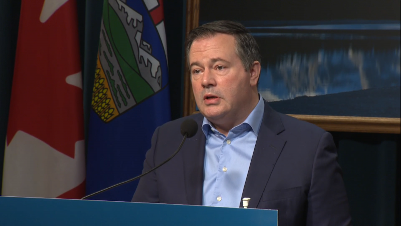 Premier Jason Kenney announced Alberta was on the brink of exhausting its supply of the COVID-19 vaccine on Monday as a result of shipment delays from a supplier