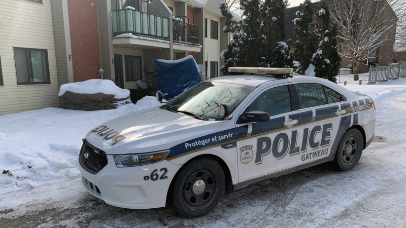 Gatineau police are investigating the suspicious death of a baby on rue des Étudiants in the Hull sector. Jan. 18, 2021. (Ian Urbach / CTV News Ottawa)